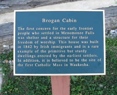 Brogan Cabin Marker image. Click for full size.