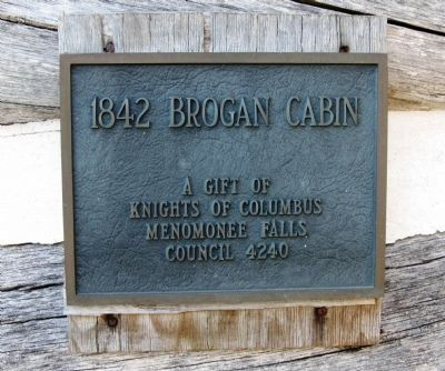 Brogan Cabin Plaque image. Click for full size.