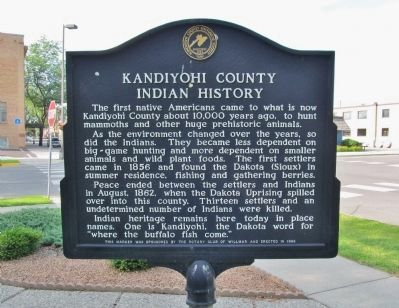 Kandiyohi County Indian History Marker image. Click for full size.