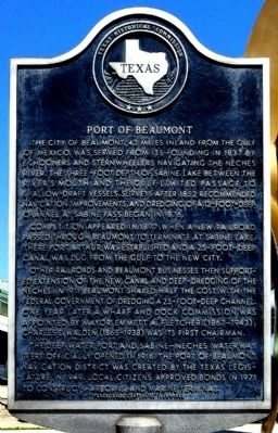 Port of Beaumont Marker image. Click for full size.