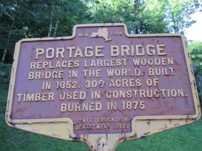 Portage Bridge Marker image. Click for full size.