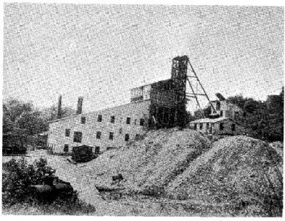 Shaft head and mill, Austin Run mine image. Click for full size.