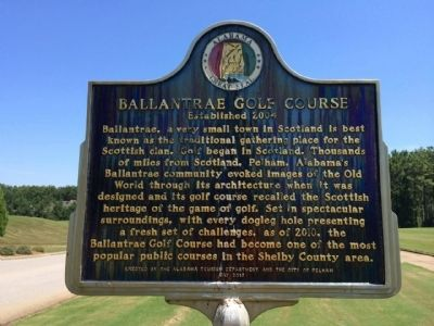Ballantrae Golf Course Marker image. Click for full size.