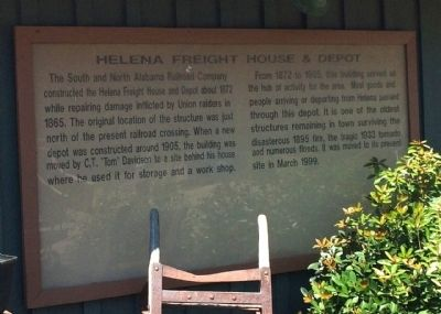 Helena Freight House & Depot Marker image. Click for full size.