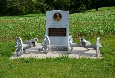 Brigadier General George Armstrong Custer Monument image. Click for full size.