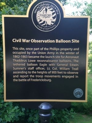 Civil War Observation Balloon Site Marker image. Click for full size.