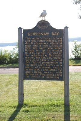 Keweenaw Bay Marker image. Click for full size.