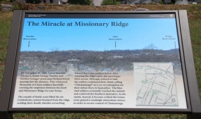 The Miracle at Missionary Ridge Marker image. Click for full size.
