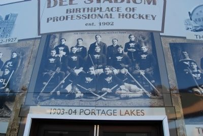 Dee Stadium-The Birthplace of Professional Hockey image. Click for full size.