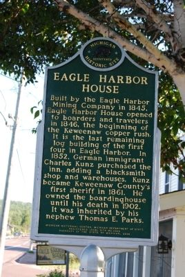Eagle Harbor House Marker image. Click for full size.