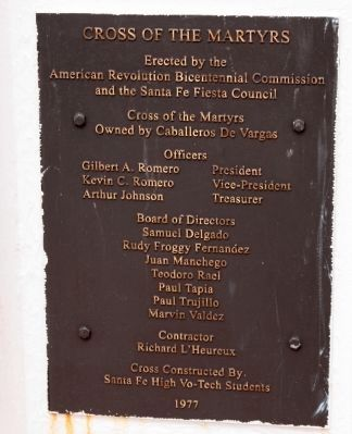 Second of Two Plaques on the Cross of the Martyrs Monument image. Click for full size.