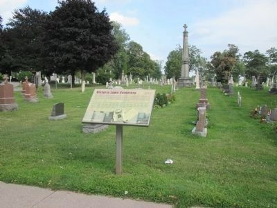 Victoria Lawn Cemetery 1855 and Marker image. Click for full size.