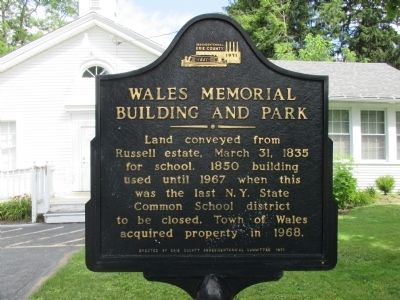 Wales Memorial Building and Park Marker image. Click for full size.