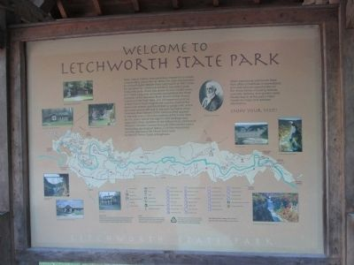 Welcome to Letchworth State Park Marker image. Click for full size.