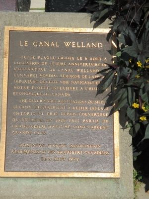 Welland Ship Canal Marker image. Click for full size.