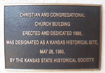 Christian and Congregational Church Building Marker image. Click for full size.