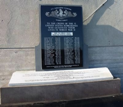 Monument near <i>Pampanito</i> commemorating the 52 U.S. Submarines lost in action during WWII image. Click for full size.