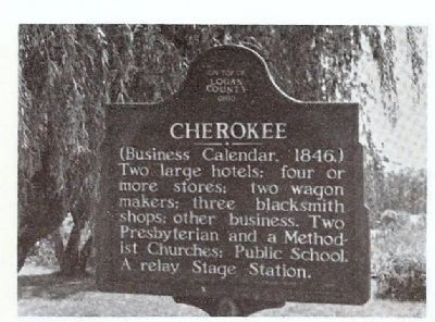 Cherokee Marker in place, probably early 1980's image. Click for full size.