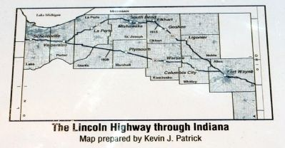 The Lincoln Highway Through Indiana image. Click for full size.