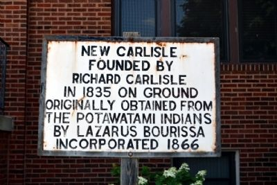 New Carlisle Founded Marker image. Click for full size.