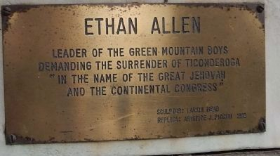 Ethan Allen Marker image. Click for full size.