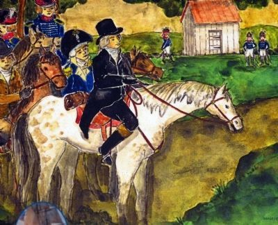 Madison Riding into Brookville<br>Aug. 26, 1814 image. Click for full size.