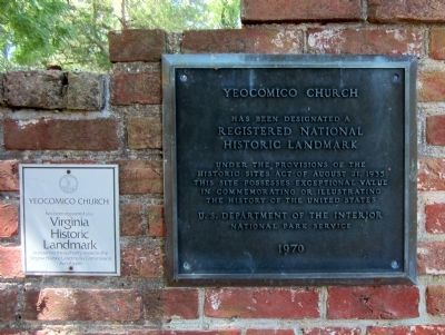Yeocomico Church Landmark Plaques image. Click for full size.