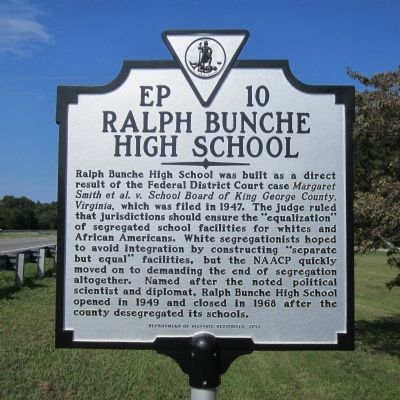 Ralph Bunche High School Marker image. Click for full size.