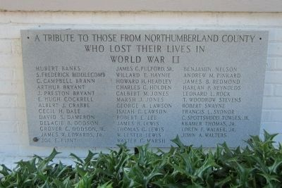 Northumberland County WWII Memorial image. Click for full size.