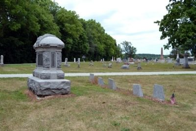 Burial Place of Lessel Long<br>(Marked by American Flag) image. Click for full size.