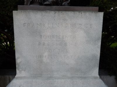 Franklin Pierce Marker (Front) image. Click for full size.