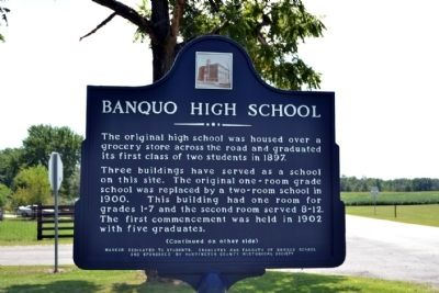 Banquo High School Marker image. Click for full size.