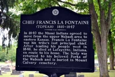 Chief Francis La Fontaine Marker image. Click for full size.