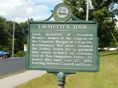 LaFayette's Tour Marker image. Click for full size.