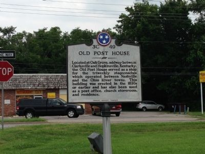 Old Post House Marker image. Click for full size.