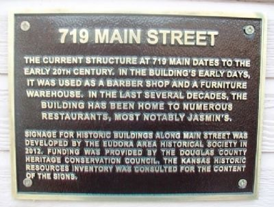 719 Main Street Marker image. Click for full size.