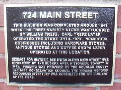 724 Main Street Marker image. Click for full size.
