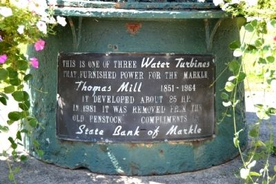 Thomas Mill Water Turbine Marker image. Click for full size.