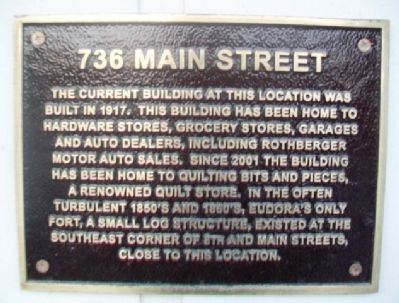 736 Main Street Marker image. Click for full size.