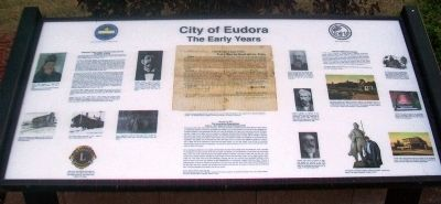 City of Eudora - The Early Years Marker image. Click for full size.