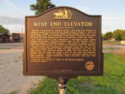 West End Elevator Marker image. Click for full size.