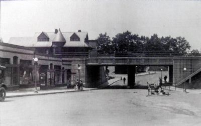 Takoma Station and Cedar Street Underpass 1918 image. Click for full size.