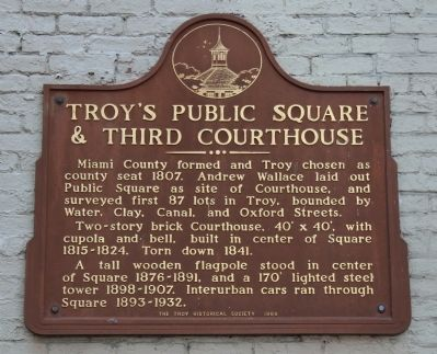 Troy's Public Square & Third Courthouse Marker image. Click for full size.