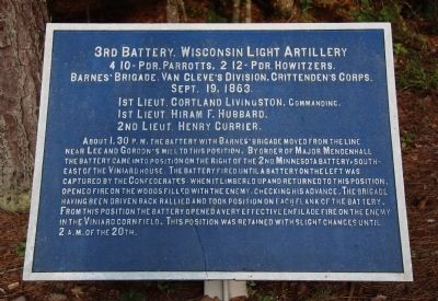 3rd Battery, Wisconsin Light Artillery Marker image. Click for full size.