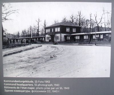 Image of Camp Headquarters / Lagerkommandantur on Marker image. Click for full size.