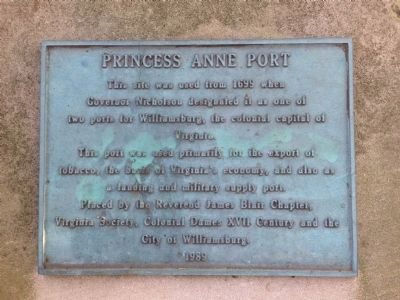 Princess Anne Port Marker image. Click for full size.