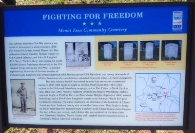 Fighting for Freedom Marker image. Click for full size.