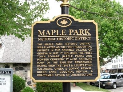 Maple Park Marker image. Click for full size.