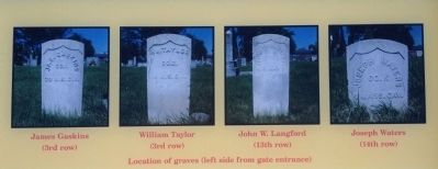 Tombstones of the four veterans image. Click for full size.