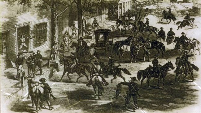 Confederate cavalry raid on New Windsor image. Click for full size.
